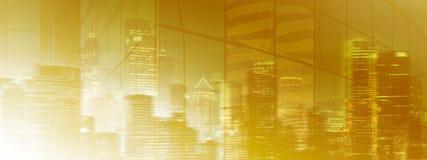 高分辨率神奇城市光 免版税库存照片