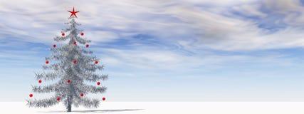 高分辨率3D圣诞树 免版税库存照片