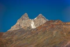 高加索在乔治亚 美丽的横向山 Svaneti 库存照片