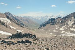 高加索山脉俄罗斯Caucas elbrus 库存图片
