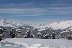 高加索山脉是一个山系在黑海和里海之间的西亚在高加索地区 免版税图库摄影