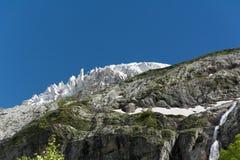 高加索山脉是一个山系在黑海和里海之间的西亚在高加索地区 免版税库存图片