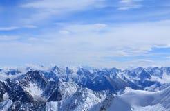 高加索峰顶 图库摄影