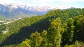 高加索横向山北部全景 免版税库存图片