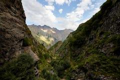 高加索的山麓小丘在乔治亚 库存图片