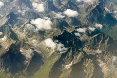 高加索dombay山山峰 免版税库存照片