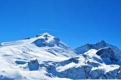 高加索dombay山山峰 免版税图库摄影