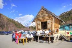 高加索 一点市场在Narzan谷  免版税图库摄影