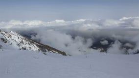 高加索山脉全景峰顶罗莎的 股票录像