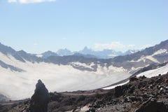 高加索山脉的美好的风景 免版税图库摄影