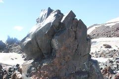 高加索山脉的美好的风景 图库摄影
