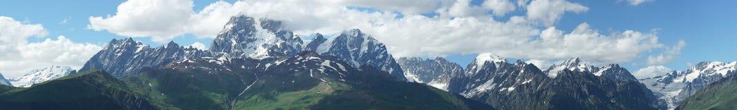 高加索山脉, Mestia,乔治亚 免版税库存照片