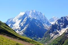 高加索山脉Dombai 库存图片