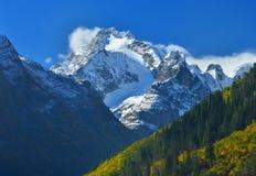 高加索山顶 图库摄影