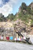 高加索 市场在Adyr Su的峡谷 免版税库存照片