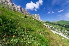 高加索横向山北部全景 免版税库存照片