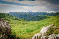 高加索横向山北部全景 库存照片
