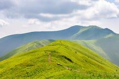 高加索覆盖横向山山shurovky天空ushba 绿色倾斜和沿山的上面运行的道路 秋天背景户外小山本质风景顶部结构树二 库存照片