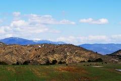 高加索覆盖横向山山shurovky天空ushba 免版税库存照片