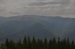 高加索高山ossetia tsey 库存图片