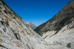 高加索dombay冰川山山 库存图片