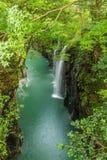 高千穗峡谷和瀑布在宫崎,日本 图库摄影