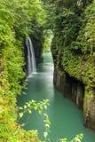 高千穗峡谷和瀑布在宫崎 库存照片