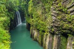 高千穗峡谷和瀑布美好的风景在宫崎 库存图片