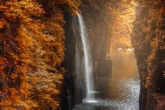 高千穗峡谷在宫崎,日本 免版税库存图片