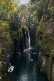 高千穗峡谷在宫崎 免版税库存图片