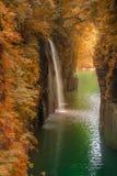高千穗峡谷秋天季节在宫崎 图库摄影