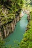 高千穗峡谷风景在宫崎,九州,日本 免版税库存照片