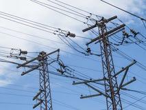 高压主输电线 图库摄影