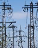 高压主输电线 免版税库存照片
