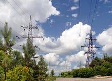 高压传输塔 图库摄影