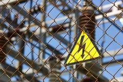 高压信号 能源设备 电子生产和dis 库存照片