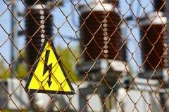 高压信号 能源设备 电子生产 库存图片