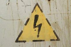 高压标志 库存图片