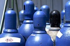 高压氧气储存箱 库存图片