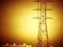 高压电定向塔 图库摄影
