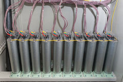 高压电容器 库存图片