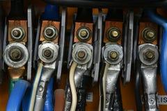 高压电接头连接 免版税库存照片