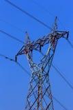 高压电柱子 图库摄影