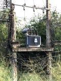 高压电源变压器是狂放的 免版税图库摄影