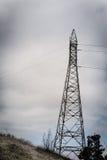 高压电源杆纹理背景 库存图片