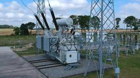 高压能量变压器驻地,鸟瞰图 影视素材