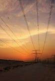 高压输电线 图库摄影