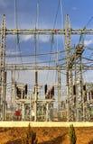 高压switchyard在电子分站 库存照片