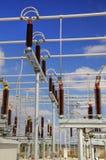 高压switchyard 库存图片