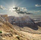 高原沙尔卡尔Nura峡谷  免版税库存照片